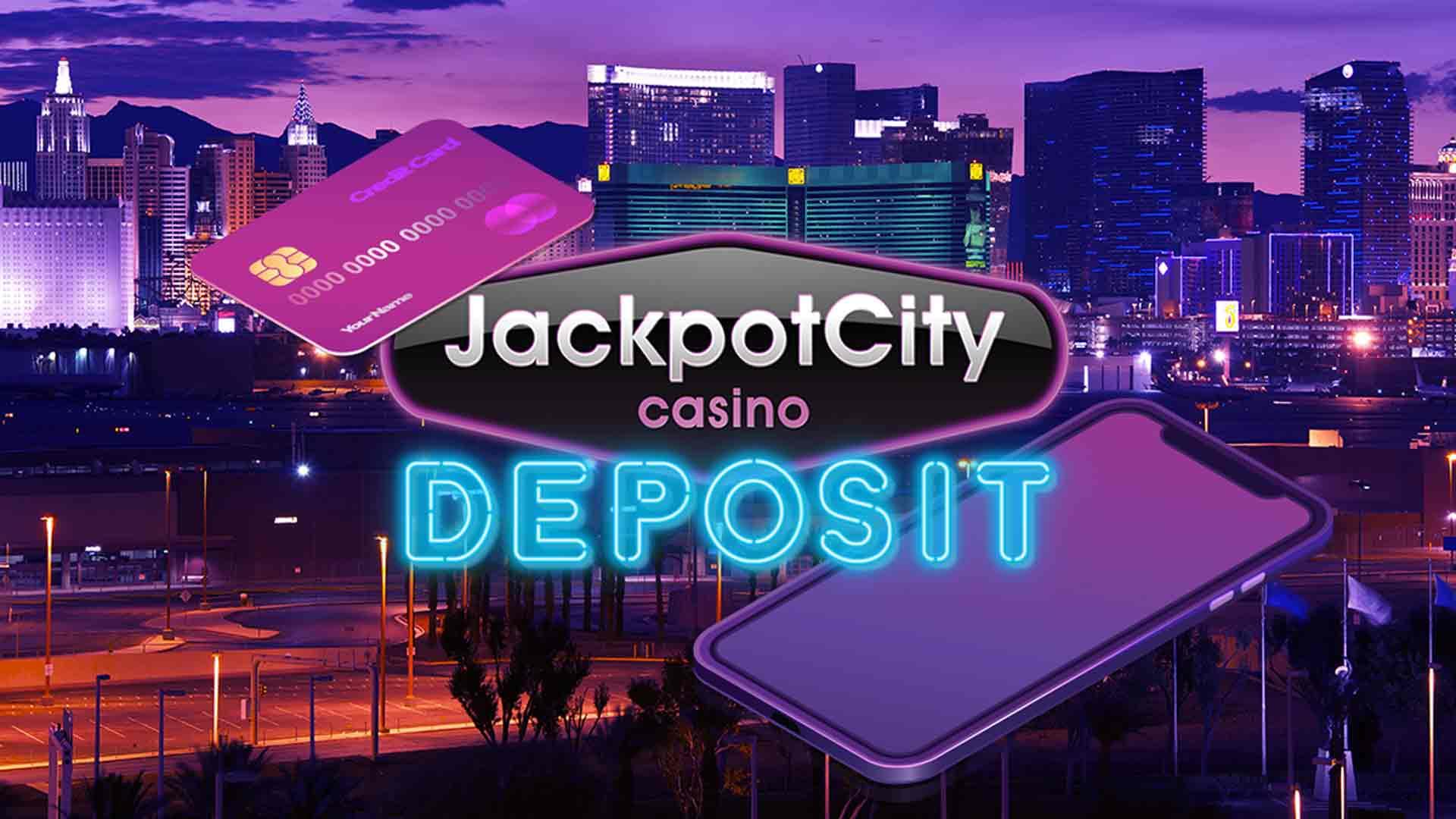 jackpot city deposit