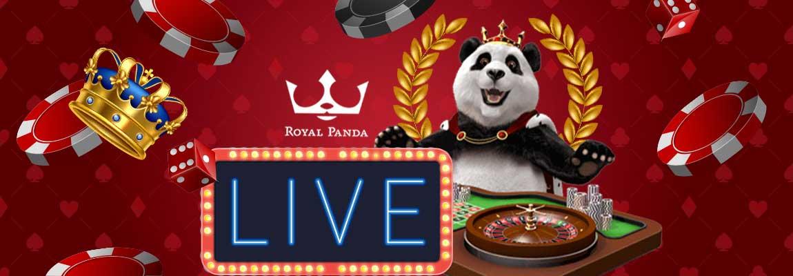 Play the Royal Panda live casino section